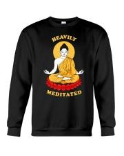 Heavily Meditated - Yoga Meditation Buddha Zen Crewneck Sweatshirt thumbnail