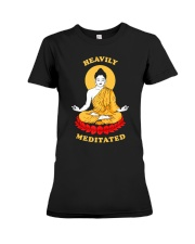 Heavily Meditated - Yoga Meditation Buddha Zen Premium Fit Ladies Tee thumbnail