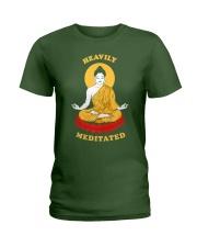 Heavily Meditated - Yoga Meditation Buddha Zen Ladies T-Shirt thumbnail