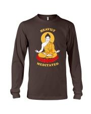 Heavily Meditated - Yoga Meditation Buddha Zen Long Sleeve Tee thumbnail