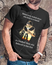 Behind Every football Player Is A Mom Classic T-Shirt lifestyle-mens-crewneck-front-4
