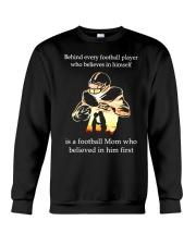 Behind Every football Player Is A Mom Crewneck Sweatshirt thumbnail