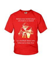 Behind Every football Player Is A Mom Youth T-Shirt thumbnail