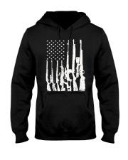 Big American Flag With Machine Guns  Hooded Sweatshirt thumbnail