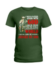 I Would Rather Stand With God  Ladies T-Shirt thumbnail