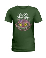 Cheshire Cat - We're All Mad Here Ladies T-Shirt thumbnail