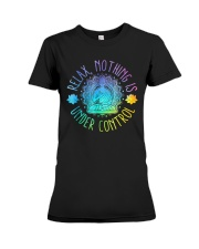 Relax Buddha Design Tshirt Premium Fit Ladies Tee thumbnail