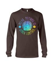 Relax Buddha Design Tshirt Long Sleeve Tee thumbnail