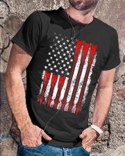 Patriotic Archery Shirt Bow Hunting Classic T-Shirt lifestyle-mens-crewneck-front-4
