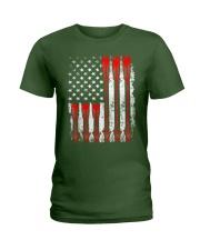 Patriotic Archery Shirt Bow Hunting Ladies T-Shirt thumbnail