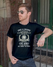 Once A Soldier Always A Soldier Classic T-Shirt lifestyle-mens-crewneck-front-2