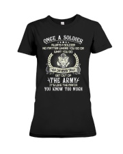 Once A Soldier Always A Soldier Premium Fit Ladies Tee thumbnail