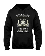 Once A Soldier Always A Soldier Hooded Sweatshirt thumbnail