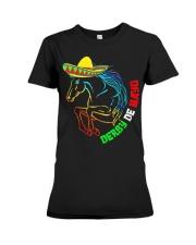 Derby De Mayo Horse Race Sombrero Mexican T-Shirt Premium Fit Ladies Tee thumbnail
