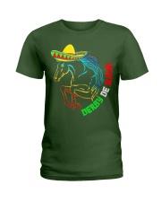 Derby De Mayo Horse Race Sombrero Mexican T-Shirt Ladies T-Shirt thumbnail