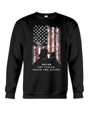Veteran Shirt Honor the Fallen Thank the Living Crewneck Sweatshirt thumbnail