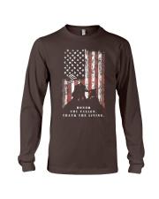 Veteran Shirt Honor the Fallen Thank the Living Long Sleeve Tee thumbnail