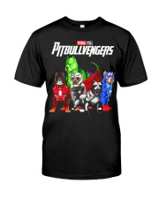 Pitbullvengers T-shirt Funny Dog Classic T-Shirt tile