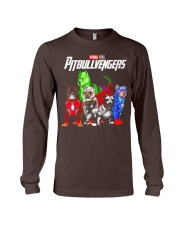 Pitbullvengers T-shirt Funny Dog Long Sleeve Tee thumbnail