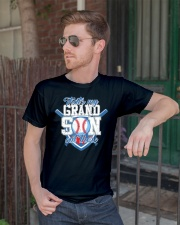 That's My Grandson Out There Baseball  Classic T-Shirt lifestyle-mens-crewneck-front-2