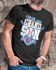 That's My Grandson Out There Baseball  Classic T-Shirt lifestyle-mens-crewneck-front-4