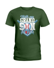 That's My Grandson Out There Baseball  Ladies T-Shirt thumbnail