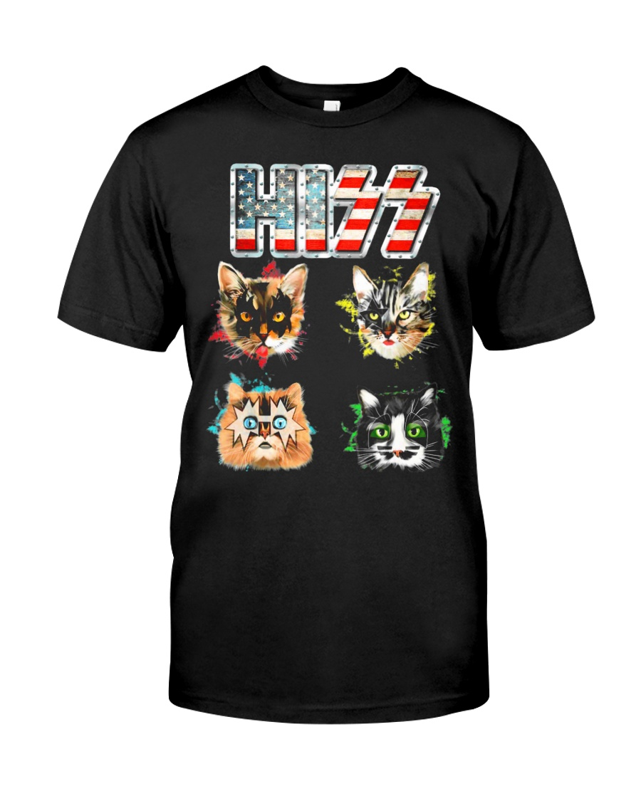 Funny Hiss Funny Cats cute cat lover shirt  Classic T-Shirt