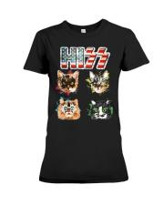 Funny Hiss Funny Cats cute cat lover shirt  Premium Fit Ladies Tee thumbnail