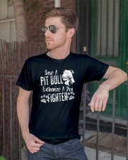 Save A Pitbull Euthanize A Dog Fighter Pit Bull Classic T-Shirt lifestyle-mens-crewneck-front-2