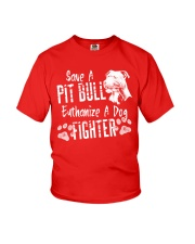 Save A Pitbull Euthanize A Dog Fighter Pit Bull Youth T-Shirt thumbnail