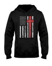 Vintage Distressed USA Flag Christian Shirt Hooded Sweatshirt thumbnail