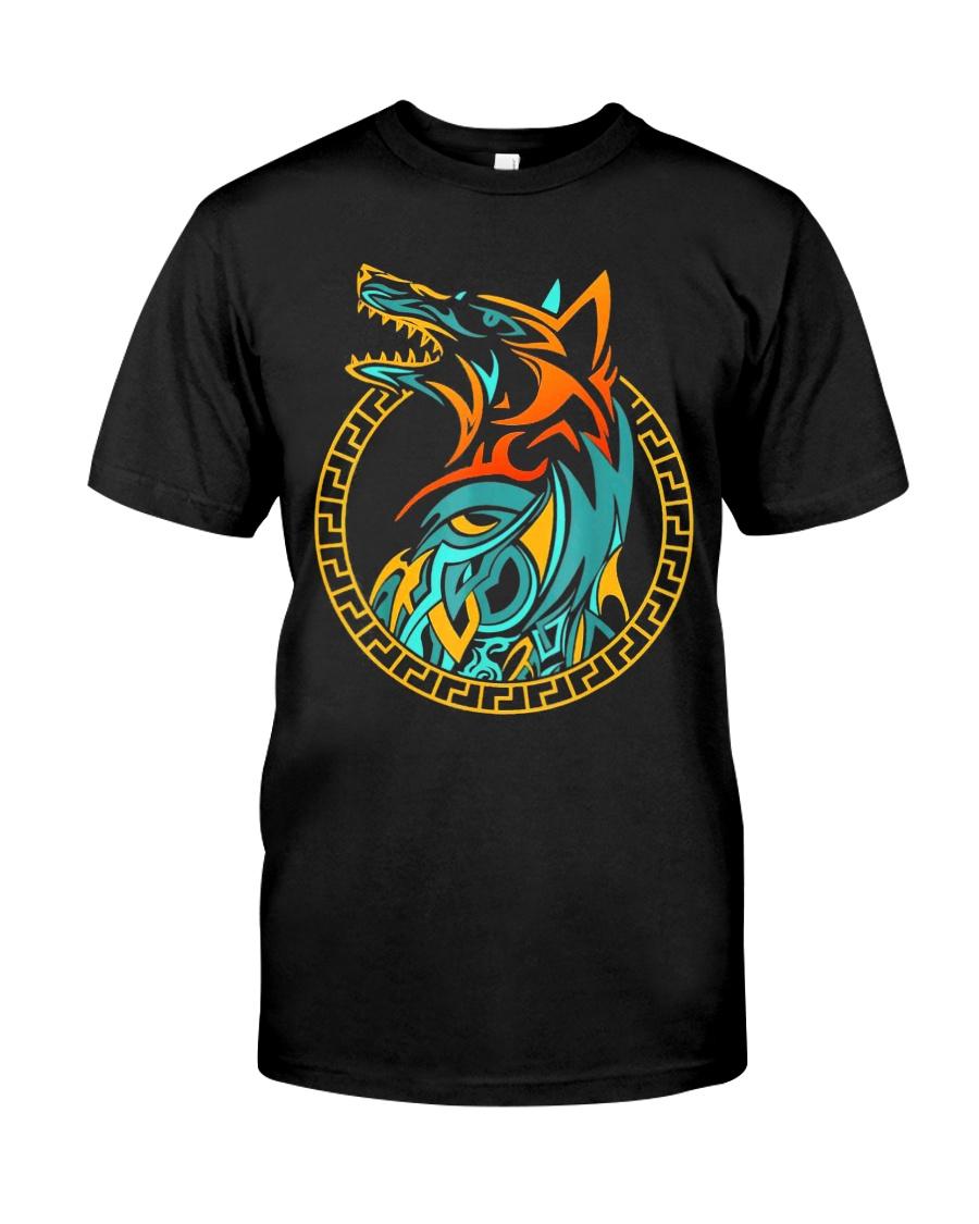 Tribal Fenrir Wolf Shirt Norse Viking T Shirt Classic T-Shirt