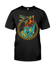 Tribal Fenrir Wolf Shirt Norse Viking T Shirt Classic T-Shirt front
