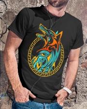 Tribal Fenrir Wolf Shirt Norse Viking T Shirt Classic T-Shirt lifestyle-mens-crewneck-front-4