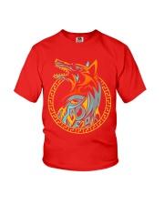 Tribal Fenrir Wolf Shirt Norse Viking T Shirt Youth T-Shirt thumbnail