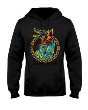 Tribal Fenrir Wolf Shirt Norse Viking T Shirt Hooded Sweatshirt thumbnail