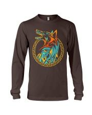 Tribal Fenrir Wolf Shirt Norse Viking T Shirt Long Sleeve Tee thumbnail