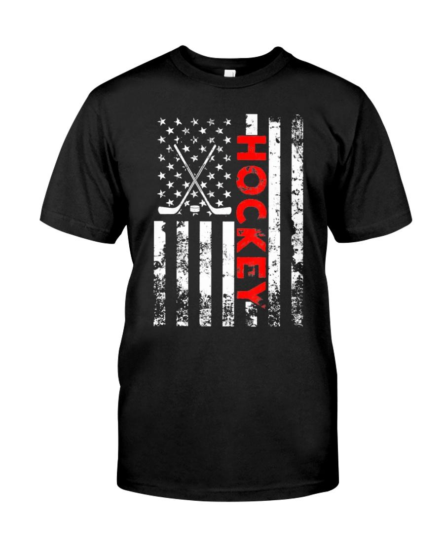 American Flag Hockey USA Patriotic Classic T-Shirt