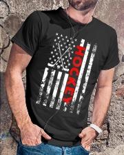 American Flag Hockey USA Patriotic Classic T-Shirt lifestyle-mens-crewneck-front-4