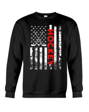 American Flag Hockey USA Patriotic Crewneck Sweatshirt thumbnail
