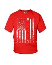 American Flag Hockey USA Patriotic Youth T-Shirt thumbnail