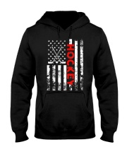 American Flag Hockey USA Patriotic Hooded Sweatshirt thumbnail