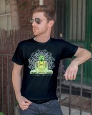 Green Buddha Bodhisattva in Meditation T-Shirt Classic T-Shirt lifestyle-mens-crewneck-front-2