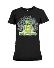 Green Buddha Bodhisattva in Meditation T-Shirt Premium Fit Ladies Tee thumbnail