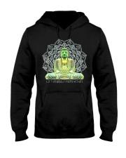 Green Buddha Bodhisattva in Meditation T-Shirt Hooded Sweatshirt thumbnail