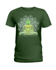Green Buddha Bodhisattva in Meditation T-Shirt Ladies T-Shirt thumbnail