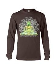 Green Buddha Bodhisattva in Meditation T-Shirt Long Sleeve Tee thumbnail