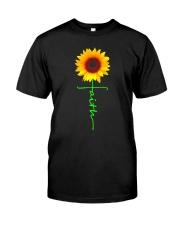 Christian Faith Cross Sunflower T-Shirt Classic T-Shirt front
