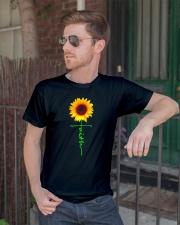 Christian Faith Cross Sunflower T-Shirt Classic T-Shirt lifestyle-mens-crewneck-front-2