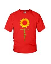 Christian Faith Cross Sunflower T-Shirt Youth T-Shirt thumbnail